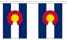 COLORADO (U.S. STATE) BUNTING - 3 METRES 10 FLAGS